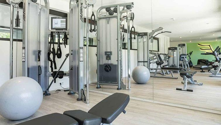 Fitness centre at THE FLAG München Apartments