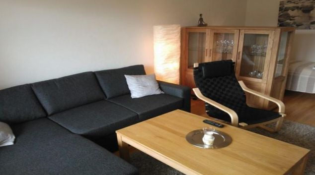 Living area at the Kallontie Apartments