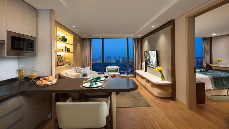 Living area at Somerset Baitang Suzhou Apartments