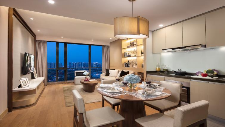 Kitchen at Somerset Baitang Suzhou Apartments