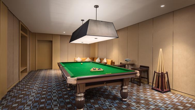 Pool table at Somerset Baitang Suzhou Apartments
