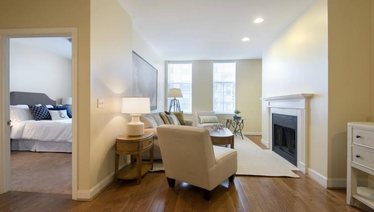 Living room at Nch Garrison Square Apartment
