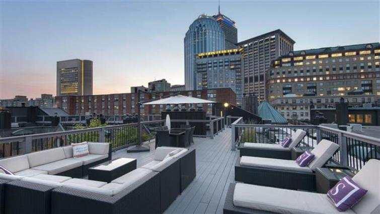 Rooftop terrace at Nch Garrison Square Apartment