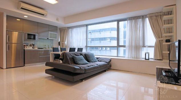 Living room at Lumiere Apartments, Singapore