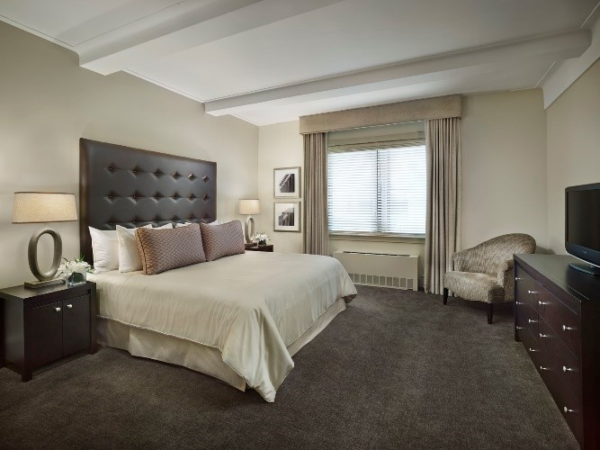 Bed at AKA Central Park, Midtown East, New York