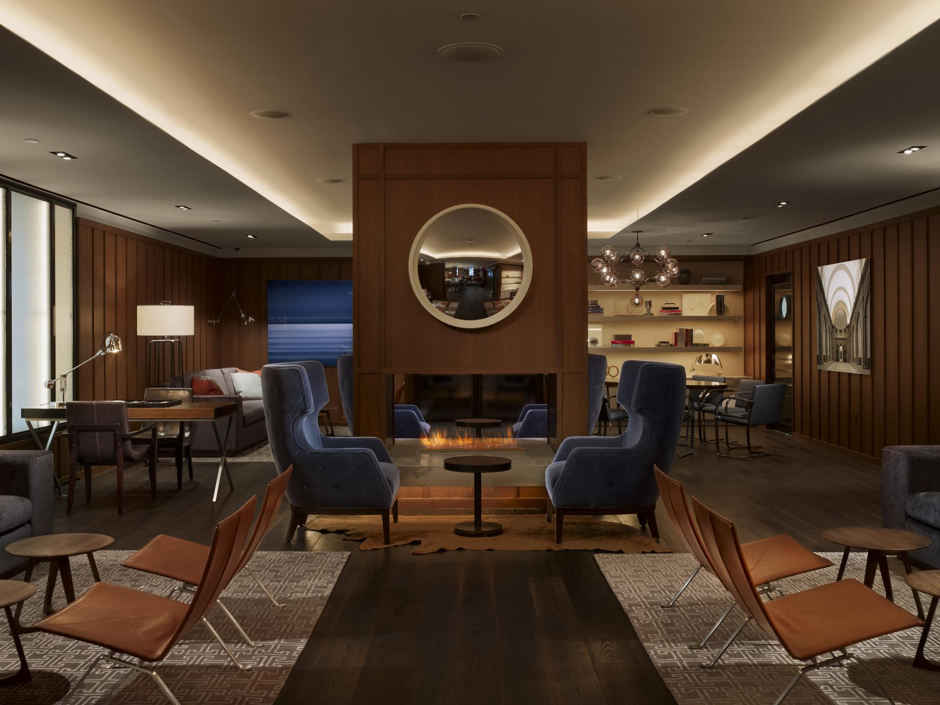 Lounge at AKA Sutton Place, Midtown East, New York