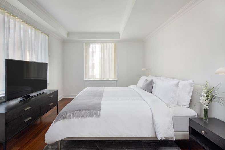 Bed at AKA Sutton Place, Midtown East, New York