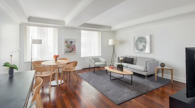 Living area at AKA Sutton Place, Midtown East, New York