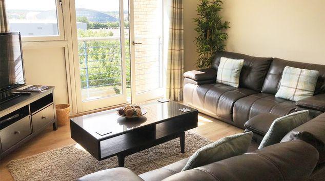 Living room at Minerva Apartment