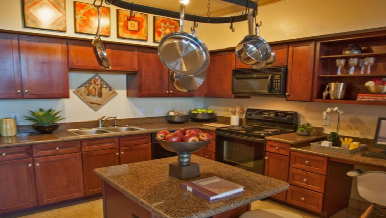 Kitchen at the Gables Grandview Apartments