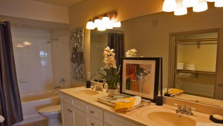 Bathroom at the Gables Grandview Apartments