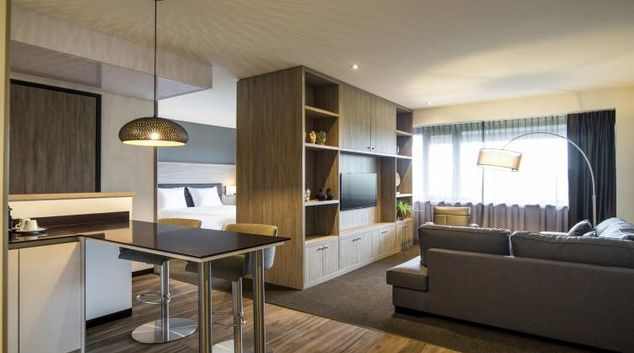 Living room at the Adagio Amsterdam City South Apartments