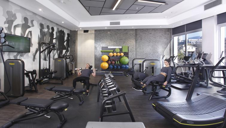 Gym at On The Park Apartments
