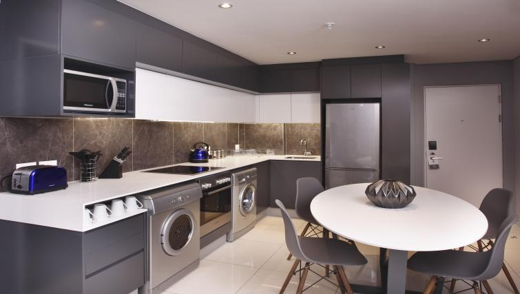 Kitchen at On The Park Apartments