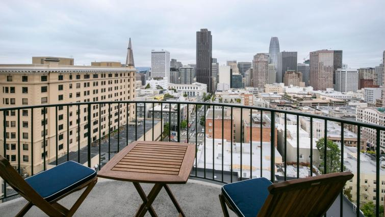 Balcony at 899 Pine Street Serviced Apartments