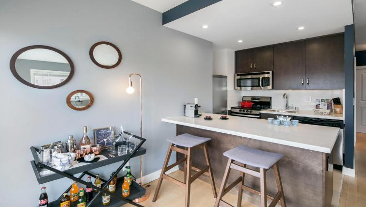 Kitchen at 899 Pine Street Serviced Apartments