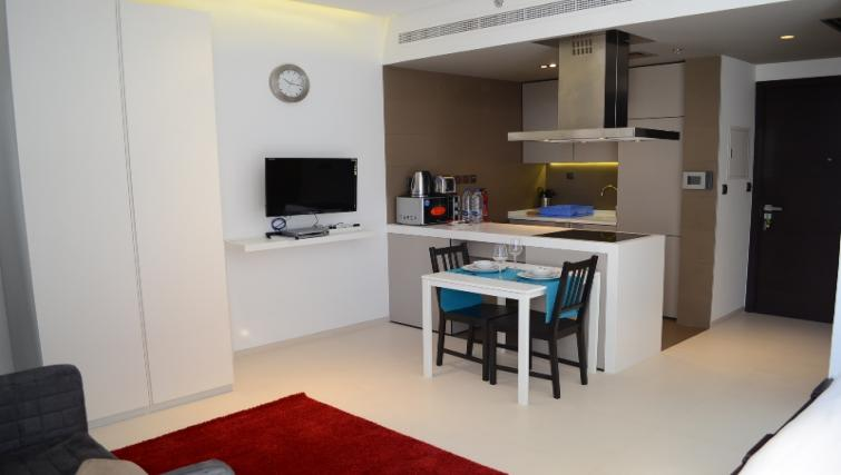 Kitchen at West Avenue Tower Apartments