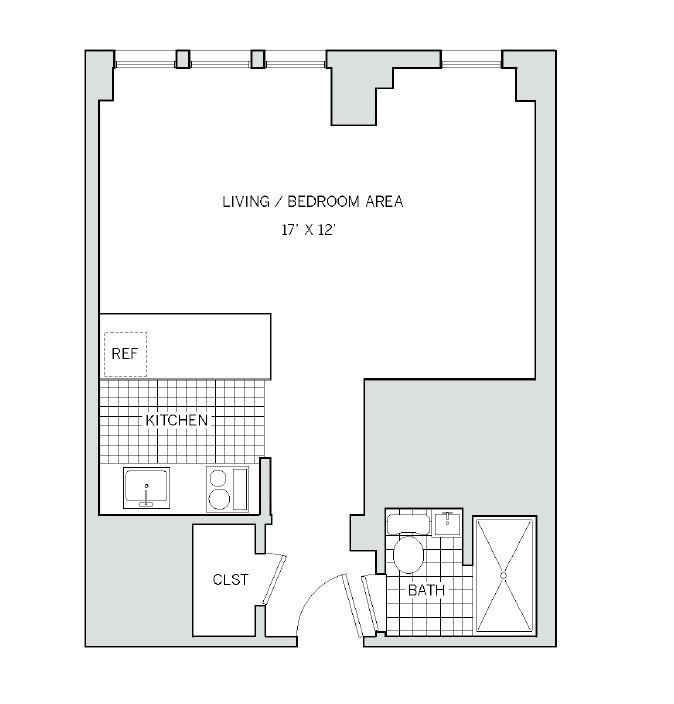 Floor plan at AKA Rittenhouse Square