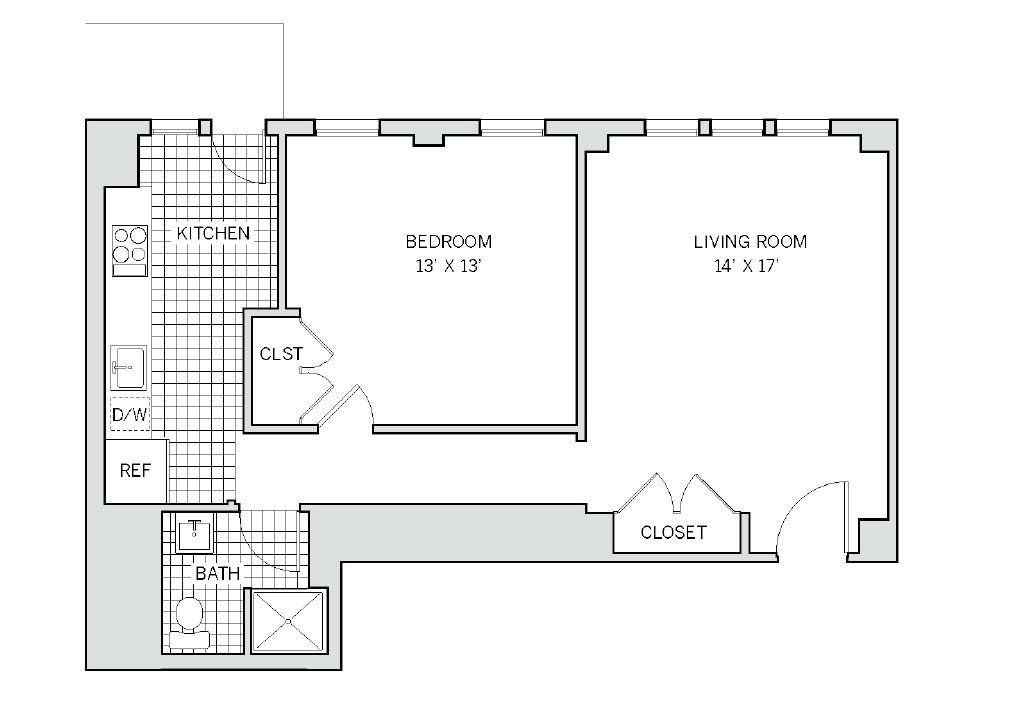 Floor plan 2 at AKA Rittenhouse Square