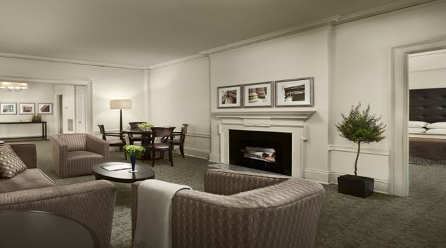 Living area at AKA Rittenhouse Square
