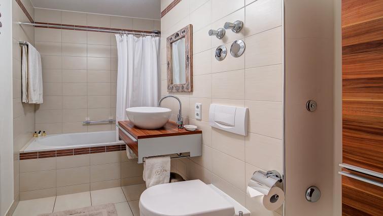 Tranquil bathroom in Viktorias Apartment