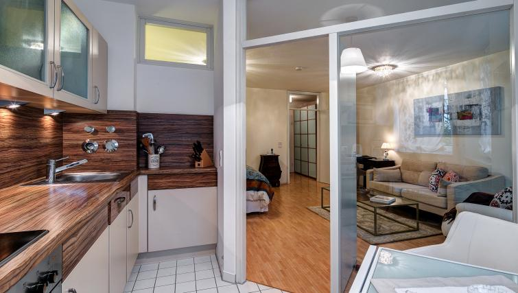 Bright kitchen in Viktorias Apartment
