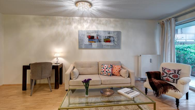 Bright living area in Viktorias Apartment