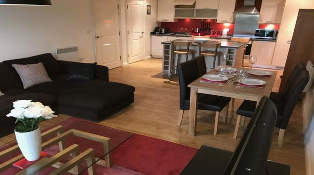 Lounge at the Solihull Centre Apartments