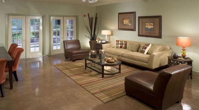 Living room at Post Coles Corner Apartment