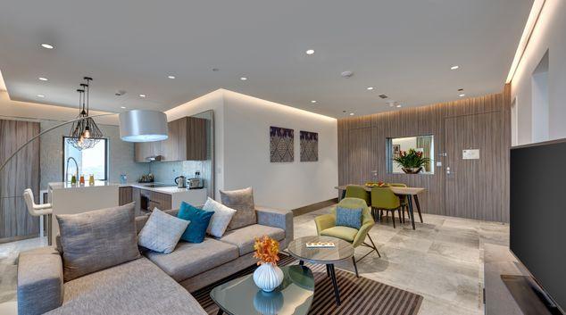 Beautiful lounge at Arjaan Dubai Media City Apartments, Media City, Dubai