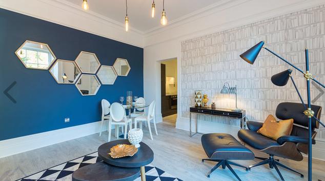 Living room at Suesey Place Apartments, Ballsbridge, Dublin