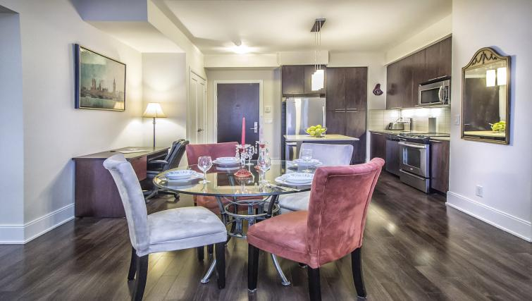 Dining table at Republic Serviced Apartments
