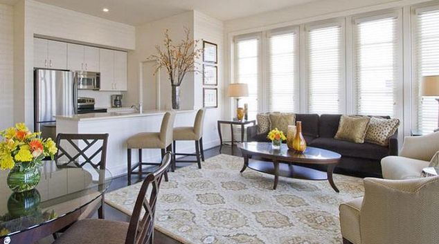 Charming living area in AKA White House