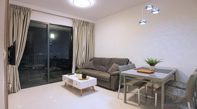 Living room at J Gateway Serviced Apartments, Singapore