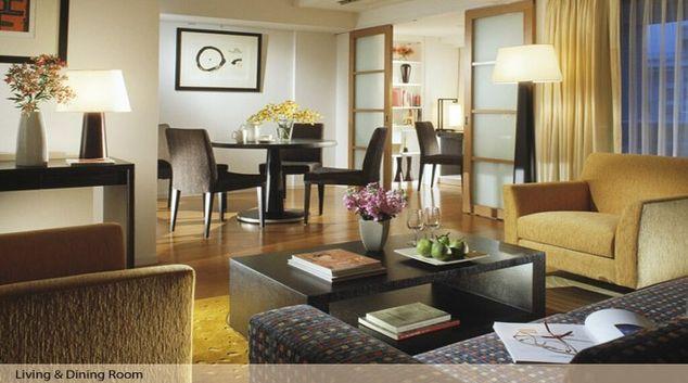 Lovely living area in Oakwood Residence Azabujyuban Tokyo