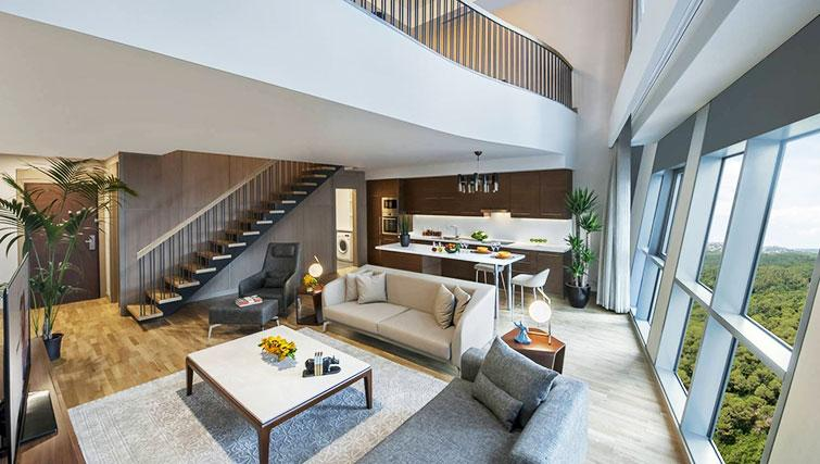 Living area at Somerset Maslak Istanbul Apartments