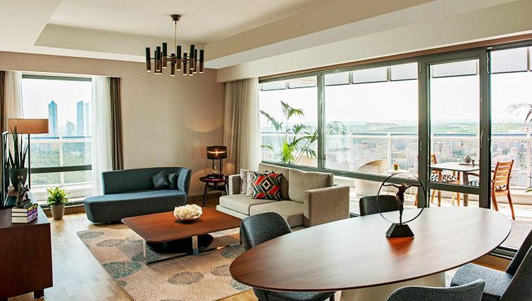 Stylish lounge at Somerset Maslak Istanbul Apartments