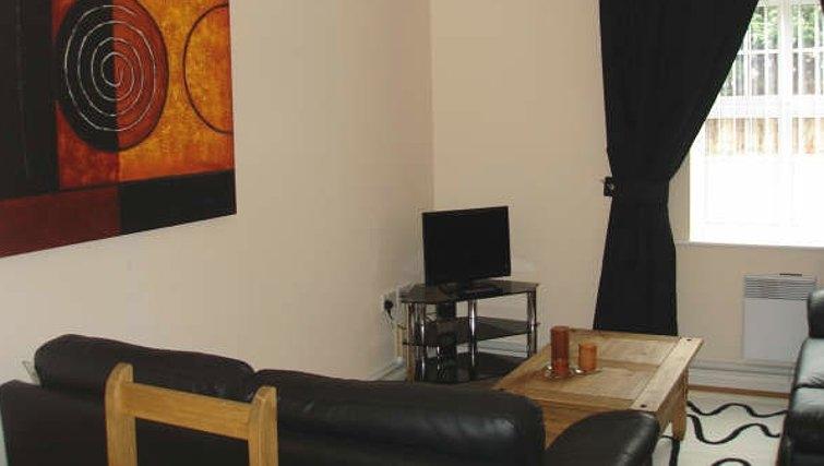 Comfortable living area in Darlington Apartments