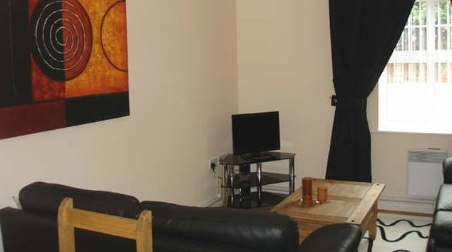 Comfortable living area in Darlington Apartments