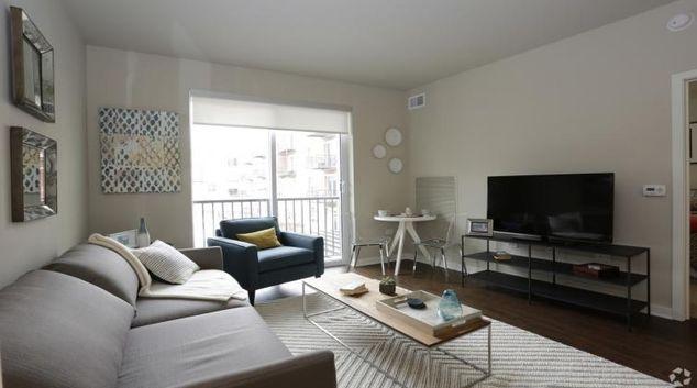Living area at the Avant at Arboretum Apartments