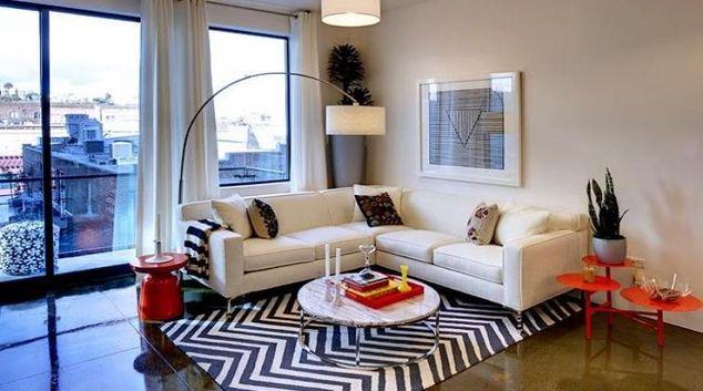 Living room at Potrero Launch Apartment