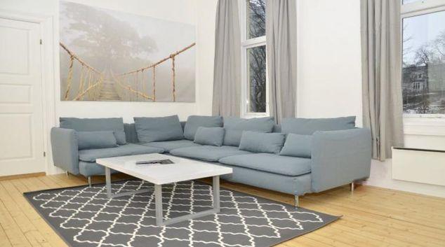 Living room at the Radhusgata 28 Apartments