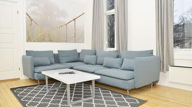 Living room at Frimannsgate 26 Apartments