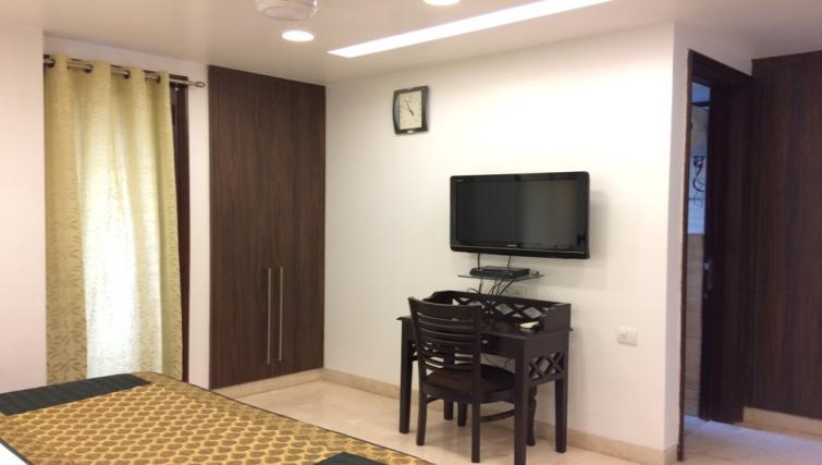 TV at  Saket Serviced Apartments