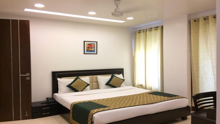 Large bedroom at Saket Serviced Apartments