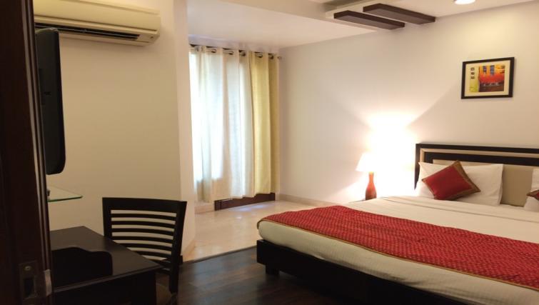 Spacious bedroom at  Saket Serviced Apartments