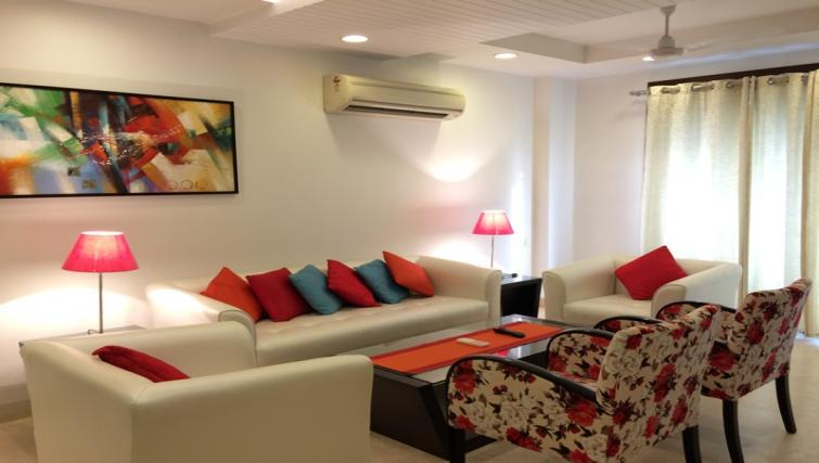 Living area at Saket Serviced Apartments