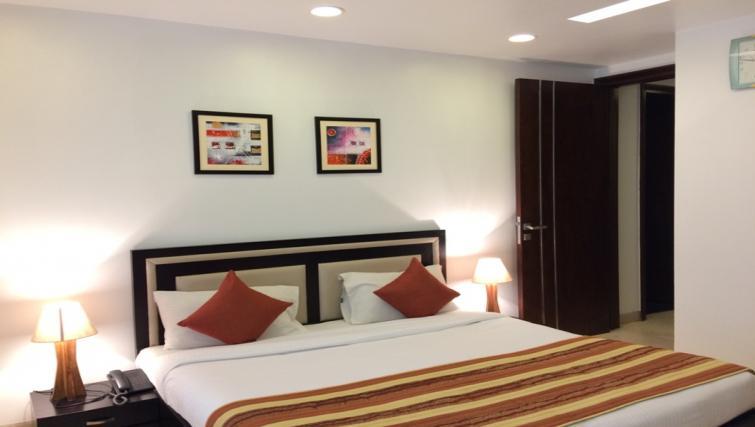 Bedding at  Saket Serviced Apartments