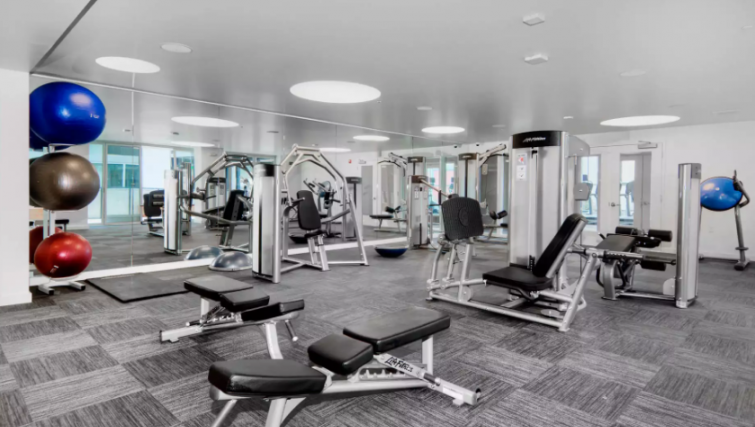 Gym at the Potrero Apartments