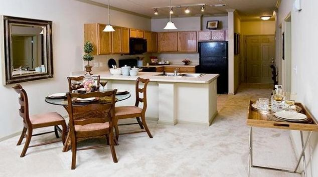 Living area at the Walton Lakes Serviced Apartment